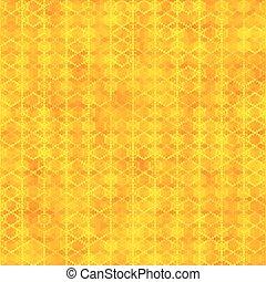 alakzat, motívum, hatszög, seamless, narancs