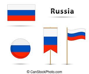 alakzat, orosz, különböző, állhatatos, zászlók