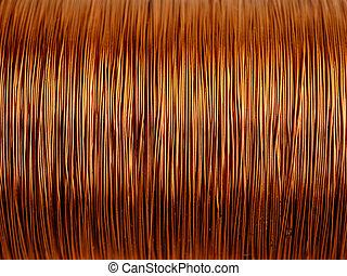 alambre de cobre, plano de fondo