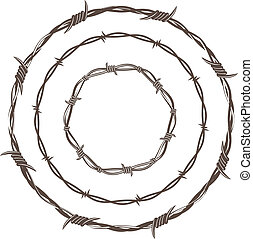 alambre de púa, anillos