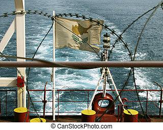 alambre de púa, barco