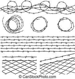 alambre de púa, elementos