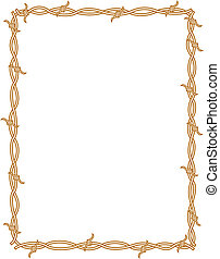 alambre de púa, frontera, marco, plano de fondo