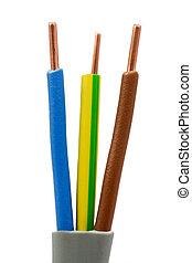 alambres, cable eléctrico