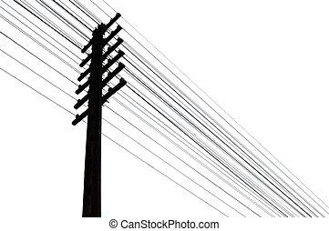 alambres del telégrafo