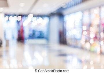 alameda, compras, plano de fondo, confuso