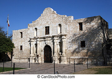 Alamo in San Antonio, Texas - The front of the Alamo in San...