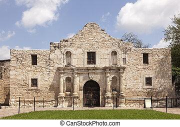 alamo, misja, w, san antonio, texas