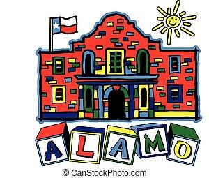 Alamo - Youth oriented alamo design in multi colors