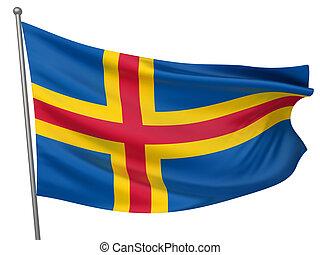 Aland National Flag