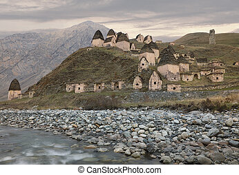 """City of the dead"" in North Ossetia-Alania. Caucasus, Russia"