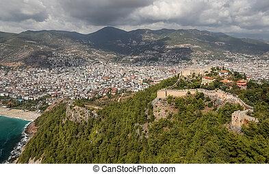 Alanya Castle in Alanya, Antalya, Turkey - Alanya Castle in...