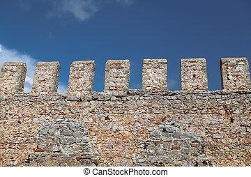 Alanya Castle Wall in Alanya, Antalya, Turkey - Alanya...