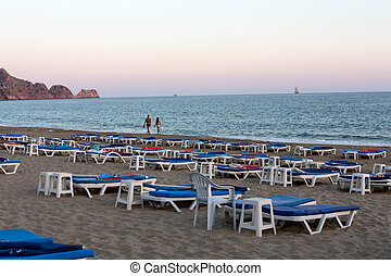 Alanya - Late afternoon on Cleopatra Beach. Alanya is one of...
