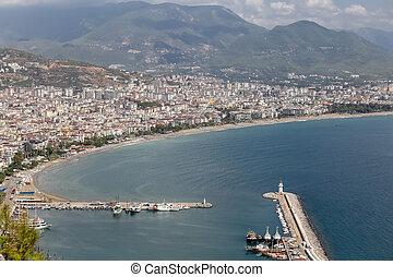 Alanya Town in Antalya, Turkey - Alanya Town in Antalya...
