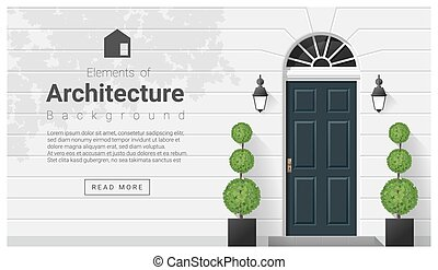 alapismeretek, ajtó, építészet, háttér, elülső, 15