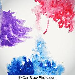 alapismeretek, húzott, ábra, elvont, háttér, kéz, vízfestmény, paper., befest, vízfestmény, nedves, scrapbook, bepiszkít, zenemű