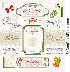 alapismeretek, tervezés, karácsony, gyűjtés, calligraphic