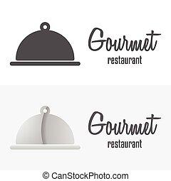 alapismeretek, vagy, étterem, kávéház, logotype, jel, ...