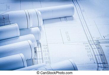 alaprajzok, épület szerkesztés, állhatatos, építészet, ...