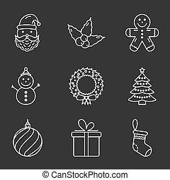 alapvető, karácsony, ikonok