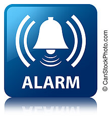 Alarm (bell icon) blue square button