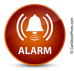 Alarm (bell icon) elegant brown round button