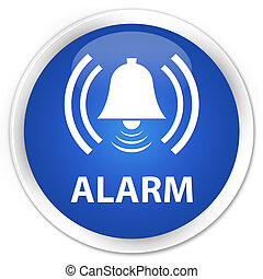 Alarm (bell icon) premium blue round button