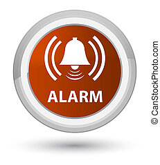 Alarm (bell icon) prime brown round button