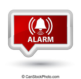 Alarm (bell icon) prime red banner button