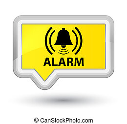 Alarm (bell icon) prime yellow banner button