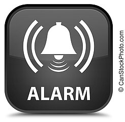 Alarm (bell icon) special black square button