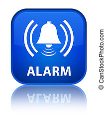 Alarm (bell icon) special blue square button