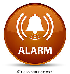 Alarm (bell icon) special brown round button
