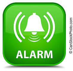 Alarm (bell icon) special green square button