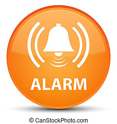 Alarm (bell icon) special orange round button