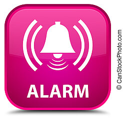 Alarm (bell icon) special pink square button