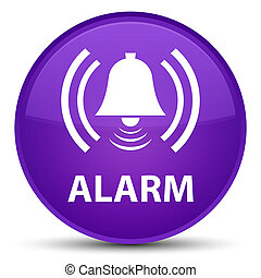 Alarm (bell icon) special purple round button