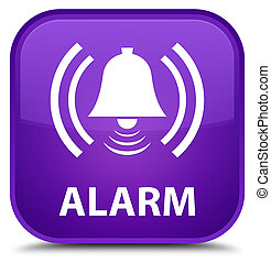 Alarm (bell icon) special purple square button