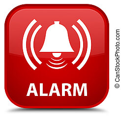 Alarm (bell icon) special red square button