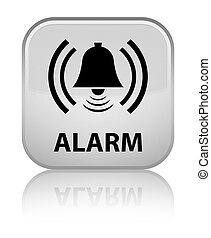 Alarm (bell icon) special white square button