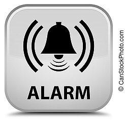 Alarm (bell icon) special white square button