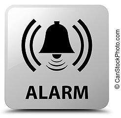 Alarm (bell icon) white square button