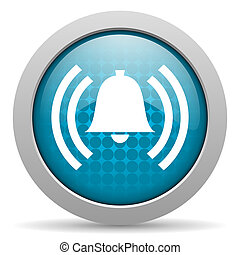 alarm blue circle web glossy icon