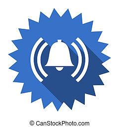 alarm blue flat icon