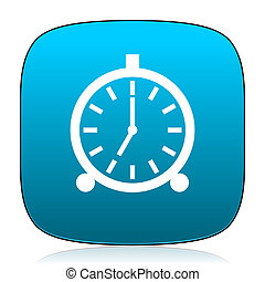 alarm blue icon