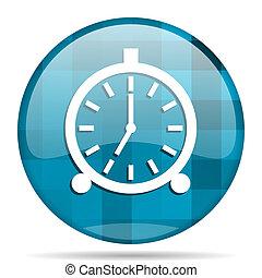 alarm blue round modern design internet icon on white ...