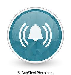 Alarm brillant crystal design round blue web icon.