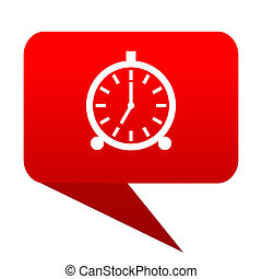 alarm bubble red icon