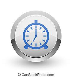 Alarm chrome border web and smartphone apps design round ...